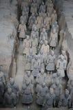 秦始皇兵马俑战士,羡中国 免版税库存图片