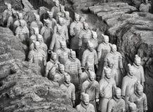 秦始皇兵马俑战士 免版税库存图片