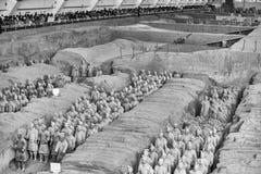 秦始皇兵马俑考古学站点 免版税库存图片