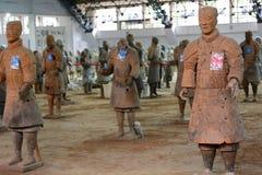 秦始皇兵马俑 西安 陕西 中国 免版税库存照片