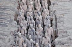 秦始皇兵马俑 免版税图库摄影