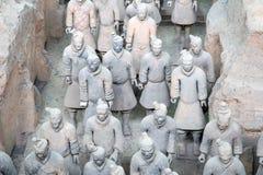 秦朝赤土陶器军队,西安(西安),中国 免版税库存照片