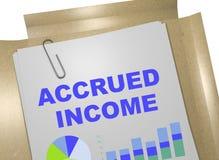 累积收入概念 向量例证