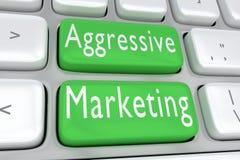 积极的营销概念 向量例证