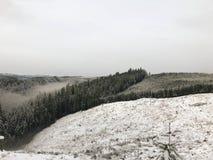 积雪清楚在山 图库摄影