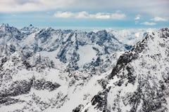 积雪的冬天山 山脉风景 冬天风景美丽的景色  斯洛伐克 库存图片