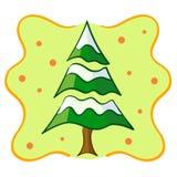 积雪的圣诞树 免版税图库摄影