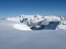 积雪的山, Mt Saentis 免版税库存照片