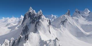 积雪的山 库存图片