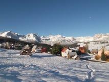 积雪的杜米托尔国家公园和Å ½ abljak 库存图片