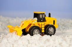 积雪的清除拖拉机 库存照片