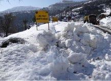 积雪的莫卧儿路看法  库存图片