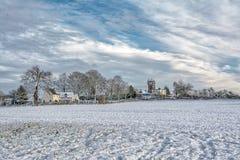 积雪的萨罗普郡小山- 12月17日 图库摄影