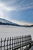 积雪的风景,克什米尔,查谟和克什米尔,印度 库存照片