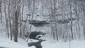 积雪的洞 免版税图库摄影