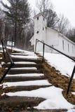 积雪-被放弃的Mt 锡安团结了卫理公会-阿巴拉契亚山脉-西维吉尼亚 免版税库存图片