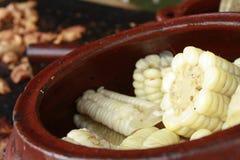 称'Choclo的'秘鲁黄色玉米 免版税图库摄影