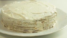 称呼绉纱蛋糕食谱的食物 股票录像