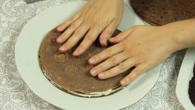 称呼绉纱蛋糕食谱的食物 影视素材