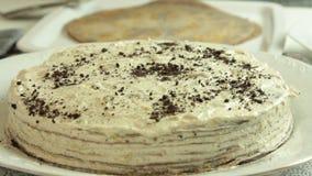 称呼oreo绉纱蛋糕食谱的烹调和食物 股票录像