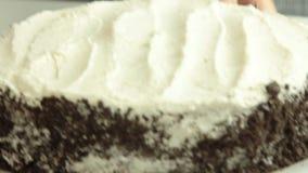 称呼oreo绉纱蛋糕食谱的食物 股票录像
