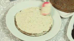 称呼oreo绉纱蛋糕食谱的食物 影视素材
