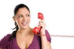 称电话惊奇 免版税库存照片