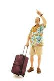 称赞的男性出租汽车旅行家 免版税库存照片