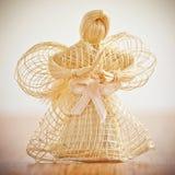 秸杆天使。 免版税库存照片