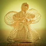 秸杆天使。 库存图片