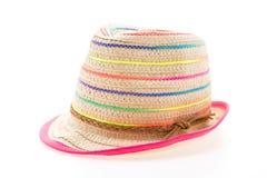 秸杆海滩帽子 免版税图库摄影