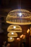 秸杆灯在晚上 库存图片