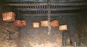 秸杆篮子在意大利 图库摄影