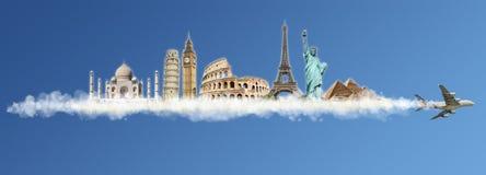移动世界纪念碑概念 图库摄影