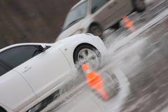 移动二的汽车冰 免版税库存照片