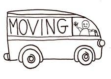 移动卡车向量 免版税库存照片