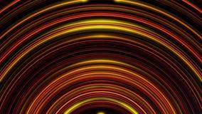 移动和淡光在黑暗的背景的抽象红色和蓝色霓虹圈子的动画 五颜六色的动画 皇族释放例证