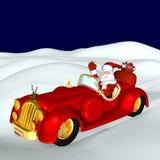 移动圣诞老人 免版税库存图片