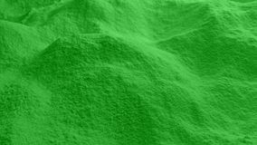 移动在绿色粉末 股票视频