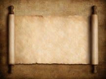 移动在老纸背景3d例证的羊皮纸 皇族释放例证