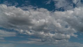 移动天空的云彩 股票录像