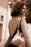 移动妇女 免版税图库摄影