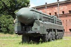 移动导弹发射装置 免版税库存图片