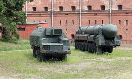移动导弹发射装置Topol 免版税库存图片