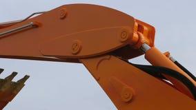 移动拖拉机` s hidraulic零件 影视素材