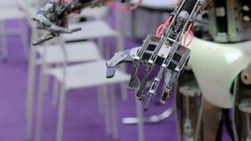 移动机器人手 股票视频