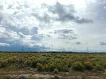 移动横跨科罗拉多圣路易斯谷的风暴  库存图片