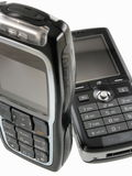移动电话二 免版税库存照片