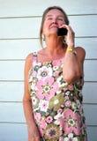 移动电话交谈 免版税库存照片