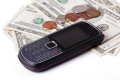 移动电话付款 免版税图库摄影